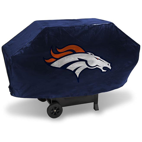 NFL Denver Broncos 68 Inch Deluxe Blue Vinyl Padded Grill Cover by Rico Industries