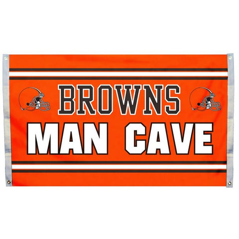 NFL 3' x 5' Team Man Cave Flag Cleveland Browns