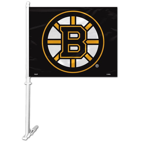 NHL Boston Bruins Logo on Window Car Flag by Fremont Die