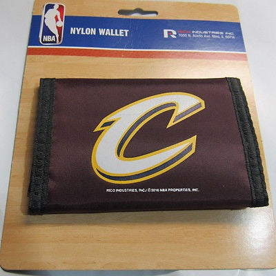 NBA Cleveland Cavaliers Tri-fold Nylon Wallet with Printed Alternate 'C' Logo