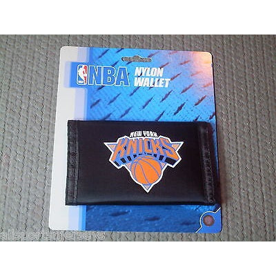 NBA New York Knicks Tri-fold Nylon Wallet with Printed Logo
