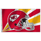 NFL 3' x 5' Team Helmet Flag Kansas City Chiefs by Fremont Die