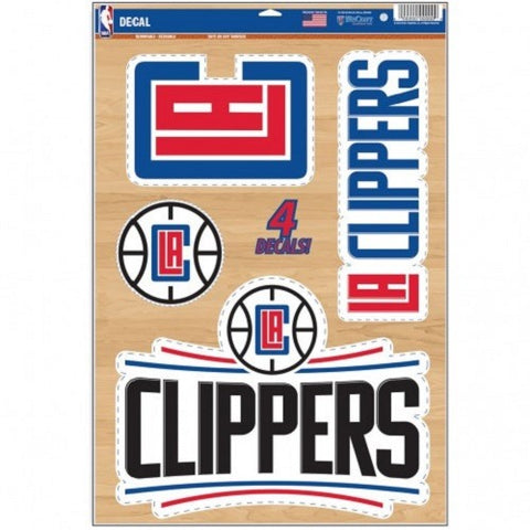 NBA Los Angeles Clippers Ultra Decals Set of 5 By WINCRAFT