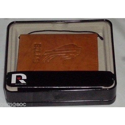 NFL Buffalo Bills Embossed TriFold Leather Wallet With Gift Box