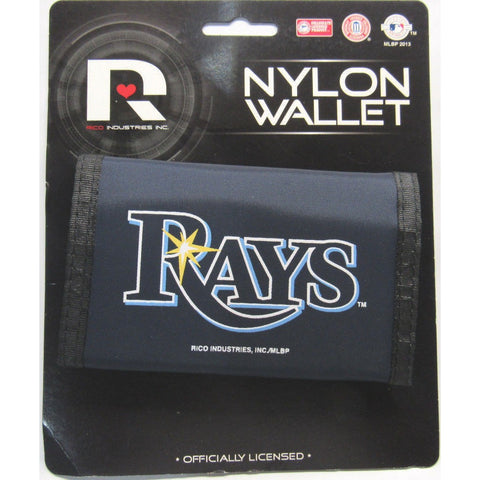 MLB Tampa Bay Rays Tri-fold Nylon Wallet with Printed Logo