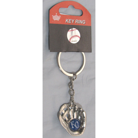 MLB Chrome Glove With Logo in Palm Key Chain Kansas City Royals AMINCO