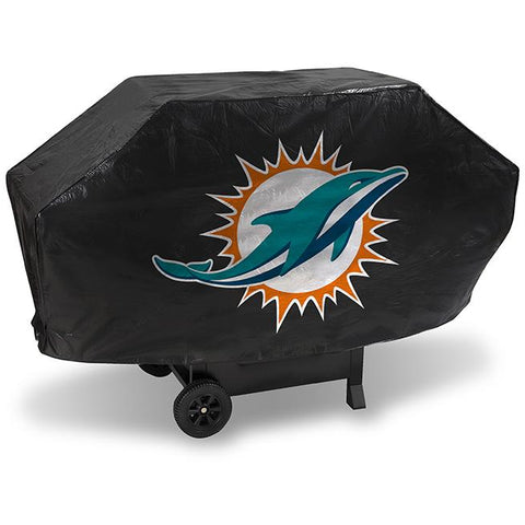 NFL Miami Dolphins 68 Inch Deluxe Vinyl Padded Grill Cover by Rico Industries