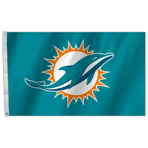 NFL 3' x 5' Team All Pro Logo Flag Miami Dolphins by Fremont Die