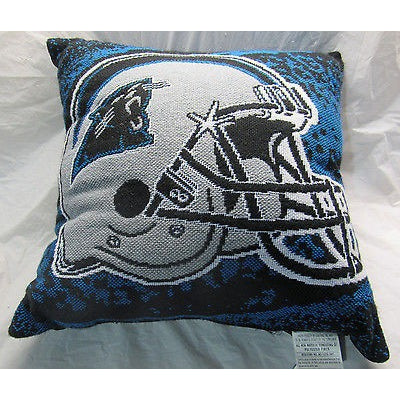 NFL NWT 20x20 JACQUARD PILLOW - CAROLINA PANTHERS - NO NAME