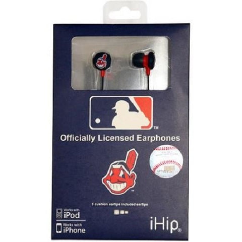 MLB Team Logo Earphones Cleveland Indians By iHip