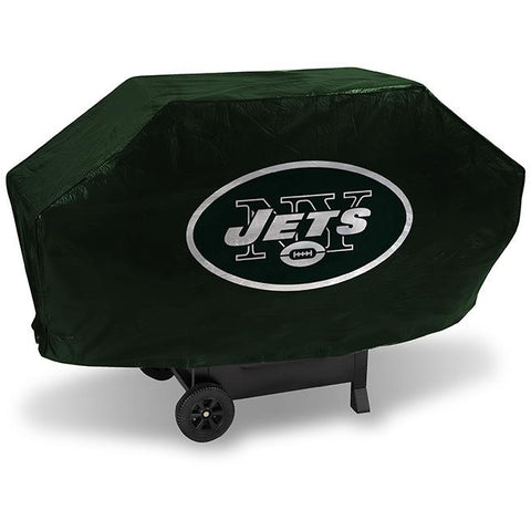 NFL New York Jets 68 Inch Deluxe Green Vinyl Padded Grill Cover by Rico Industries