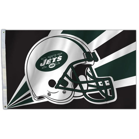 NFL 3' x 5' Team Helmet Flag New York Jets by Fremont Die