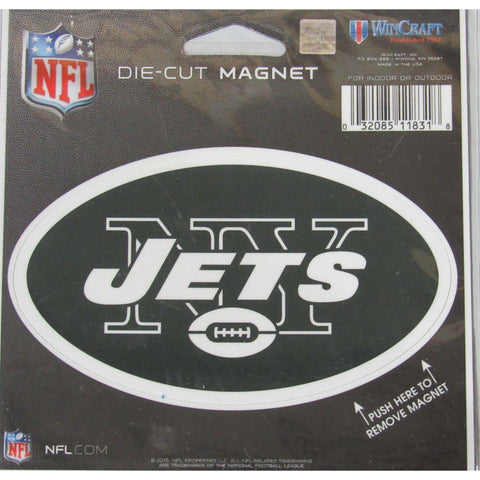 NFL New York Jets Logo 4 inch Auto Magnet by WinCraft