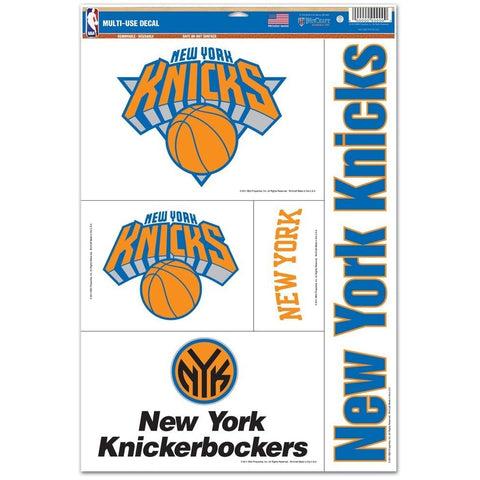 NBA New York Knicks Ultra Decals Set of 5 By WINCRAFT