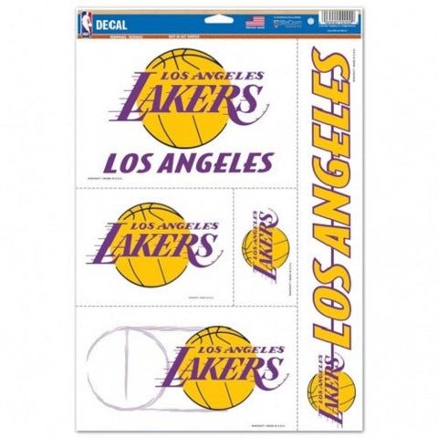 NBA Los Angeles Lakers Ultra Decals Set of 5 By WINCRAFT