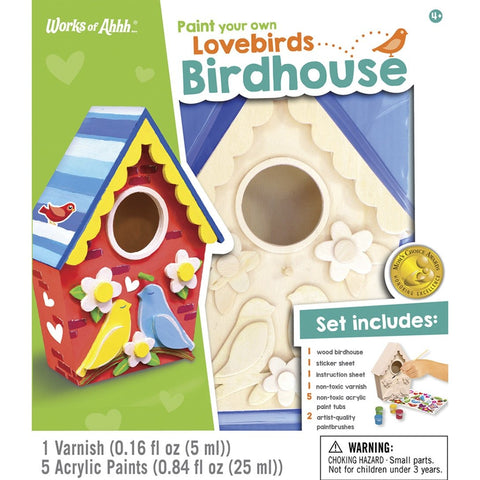 MasterPieces Works of Ahhh... Lovebird Birdhouse Wood Paint Kit