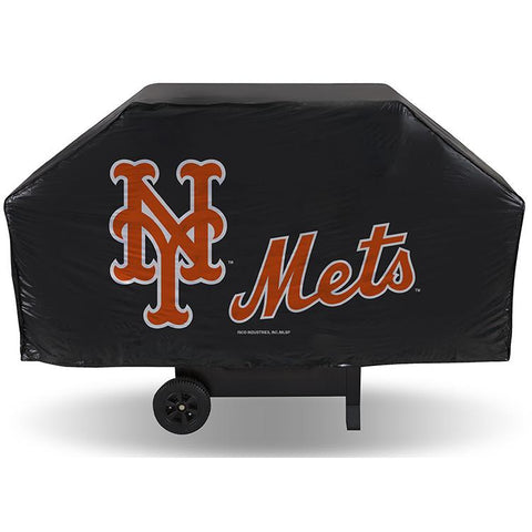 MLB New York Mets 68 Inch Vinyl Economy Gas / Charcoal Grill Cover