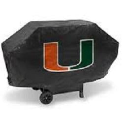 NCAA Miami Hurricanes 68 Inch Vinyl Economy Gas / Charcoal Grill Cover