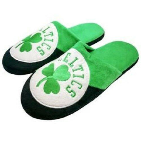 NBA Boston Celtics Colorblock Slide Slippers Size L by Forever Collectibles