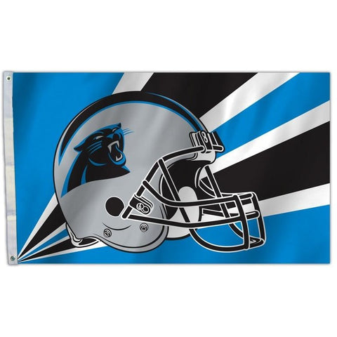 NFL 3' x 5' Team Helmet Flag Carolina Panthers by Fremont Die