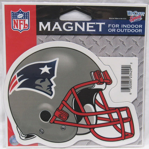 NFL New England Patriot Helmet 4 inch Auto Magnet by WinCraft
