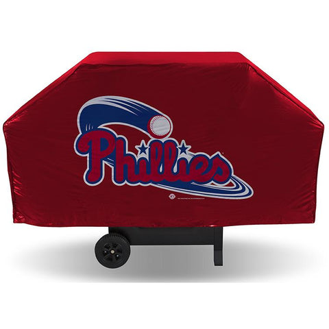 MLB Philadelphia Phillies 68 Inch Red Vinyl Economy Gas / Charcoal Grill Cover