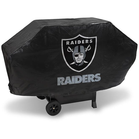 NFL Oakland Raiders 68 Inch Deluxe Vinyl Padded Grill Cover by Rico Industries