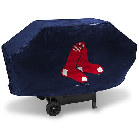 MLB Boston Red Sox 68 Inch Deluxe Vinyl Padded Grill Cover by Rico Industries