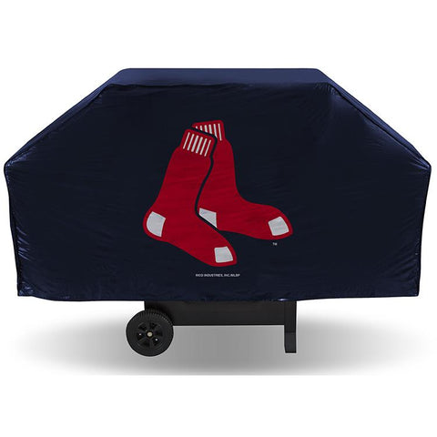 MLB Boston Red Sox 68 Inch Blue Vinyl Economy Gas / Charcoal Grill Cover