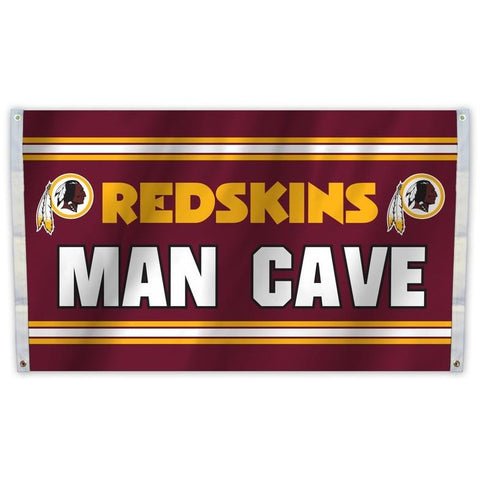 NFL 3' x 5' Team Man Cave Flag Washington Redskins