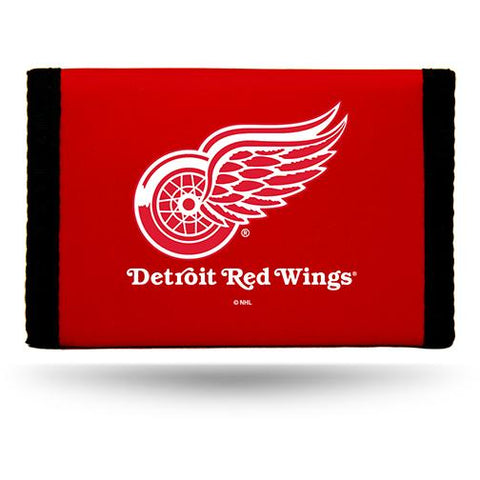 NHL Detroit Red Wings Tri-fold Nylon Wallet with Printed Logo