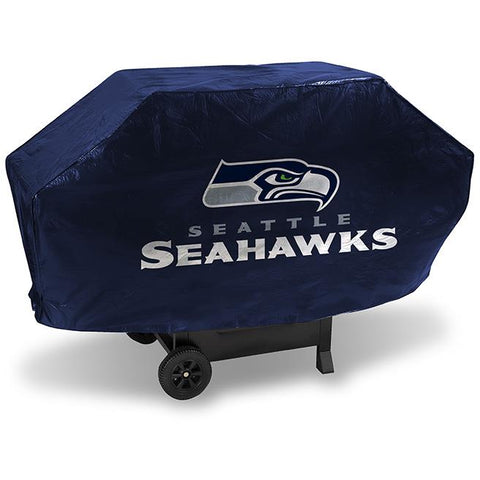 NFL Seattle Seahawks 68 Inch Deluxe Blue Vinyl Padded Grill Cover by Rico Industries
