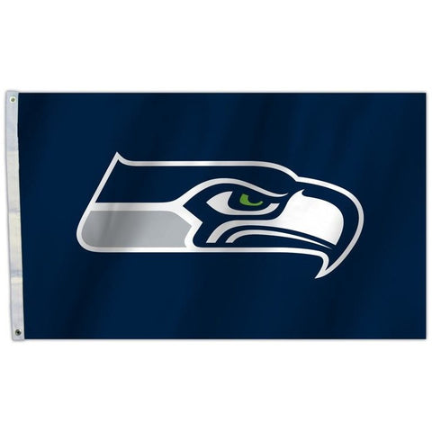 NFL 3' x 5' Team All Pro Logo Flag Seattle Seahawks Blue by Fremont Die