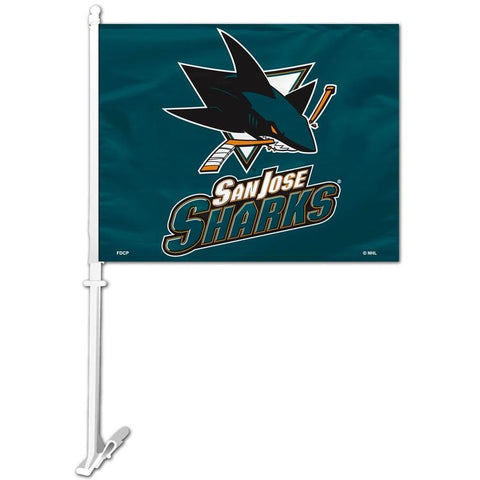 NHL San Jose Sharks Logo Window Car Flag RICO or Fremont Die
