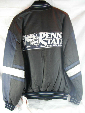 NCAA Penn State Nittany Lions Alternate Logo on Leather Jacket size Large
