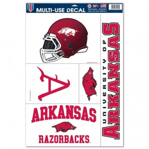 NCAA Arkansas Razorbacks Ultra Decals Set of 5 By WINCRAFT