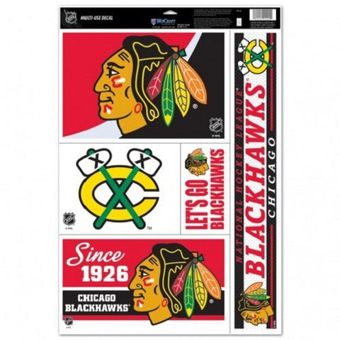 NHL Chicago Blackhawks Ultra Decals Set of 5 By WINCRAFT Since