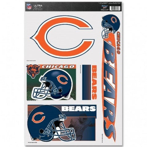 NFL Chicago Bears Ultra Decals Set of 5 By WINCRAFT