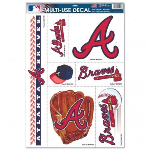 MLB Atlanta Braves Ultra Decals Set of 7 By WINCRAFT