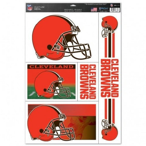 NFL Cleveland Browns Ultra Decals Set of 5 By WINCRAFT