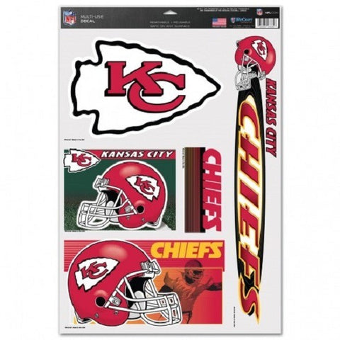 NFL Kansas City Chiefs Ultra Decals Set of 5 By WINCRAFT