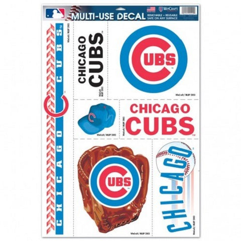 MLB Chicago Cubs Ultra Decals Set of 7 By WINCRAFT