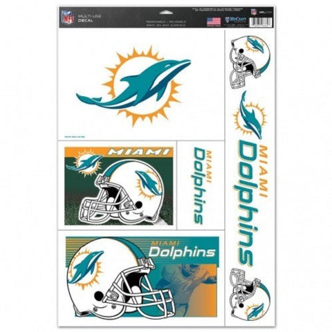 NFL Miami Dolphins Ultra Decals Set of 5 By WINCRAFT