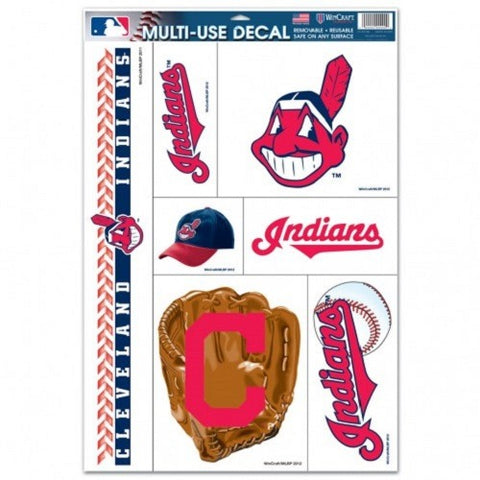 MLB Cleveland Indians Ultra Decals Set of 7 By WINCRAFT