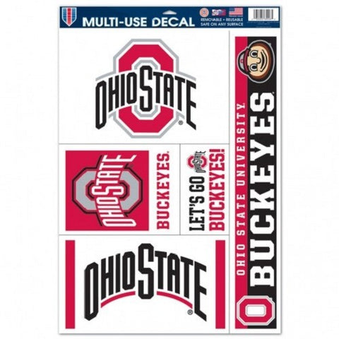 NCAA Ohio State Buckeyes Ultra Decals Set of 5 By WINCRAFT