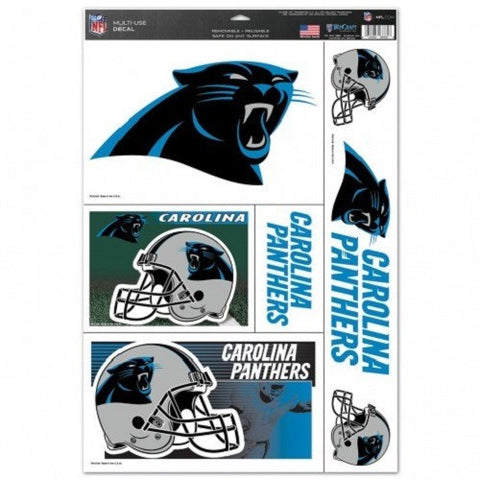 NFL Carolina Panthers Ultra Decals Set of 5 By WINCRAFT