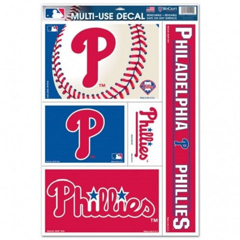 MLB Philadelphia Phillies Ultra Decals Set of 5 By WINCRAFT