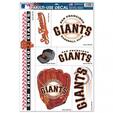MLB San Francisco Giants Ultra Decals Set of 7 By WINCRAFT