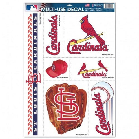 MLB St. Louis Cardinals Ultra Decals Set of 7 By WINCRAFT
