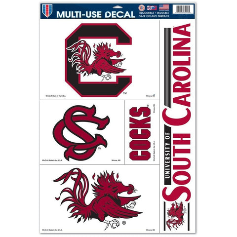 NCAA South Carolina Gamecocks Ultra Decals Set of 5 By WINCRAFT